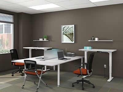Surprising Deskmakers Hover Sit Stand Benching Direct Office Solutions Download Free Architecture Designs Scobabritishbridgeorg